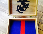 Personalized Marine Corps Wooden Keepsake Box