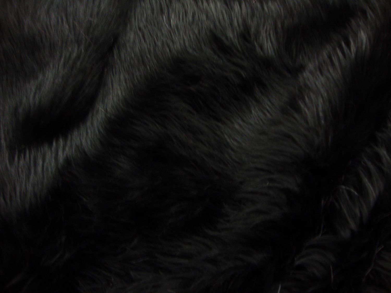 Black Faux Sheepskin Rug Home Decor