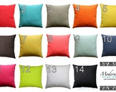Solid Throw Pillow- Premier Prints Multiple Colors Pillow Cover- 16x16 inches or Choose Size- Hidden Zipper Closure- Yellow Coral