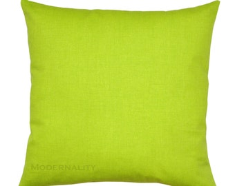 Green Toss Pillows, Chartreuse Solid Pillow Cover, Green Pillow Case, Zippered Pillow, Cushion Cover, Lime Pillow, Lime Home Decor Accent