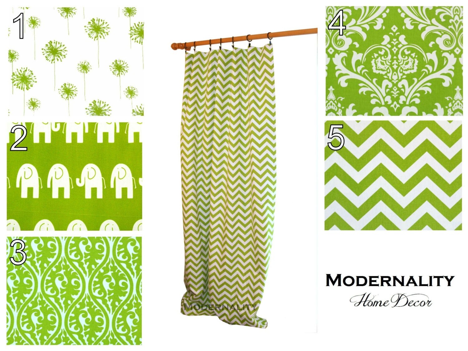 Contemporary Curtains Pair of Drapery by ModernalityHomeDecor