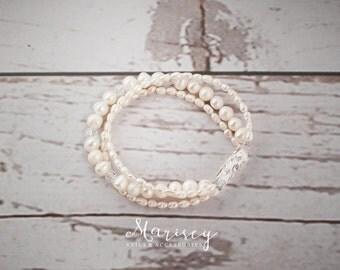 FREE SHIPPING, Freshwater Pearl Cuff Bracelet, Bridal Cuff Bracelet, Wedding Bracelet, Bridal Bracelet, Bridal Jewellery