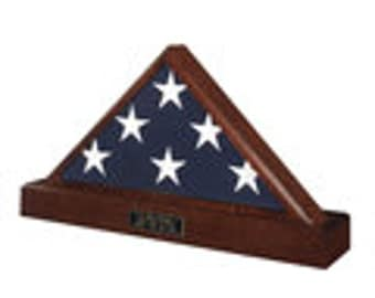 Officers Flag Display Case AND Pedestal for 5ft x 9.5ft Flag