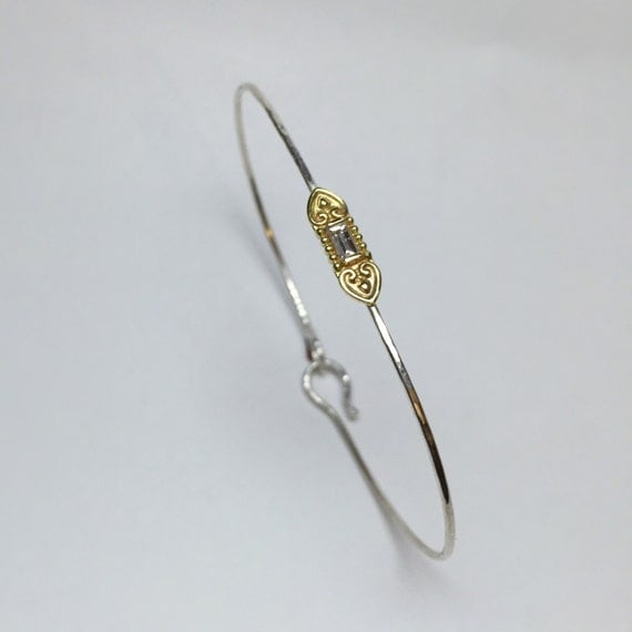 Tiny Treasures Bangle with Baguette Diamond