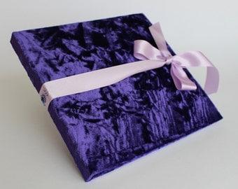Purple Guest Book Etsy