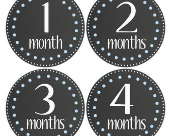 Chalkboard Baby Age Stickers Boy Monthly Sticker Growth Stickers Infant, Baby Photo Props Monthly Baby Stickers, Baby Milestone(136)