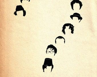 Doctor Who print - Who - Dr Who inspired A4 Minimalist art poster