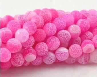 48 AGATE Gemstone Beads 8mm - COD0082