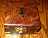 TEAK with Brass Anchor Presentation Case