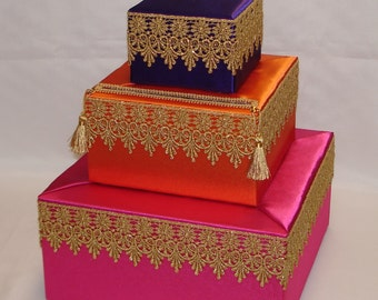 Moroccan Theme card box- any color scheme