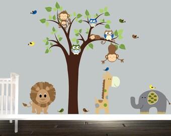 Safari Decal Etsy - Nursery wall decals gender neutral