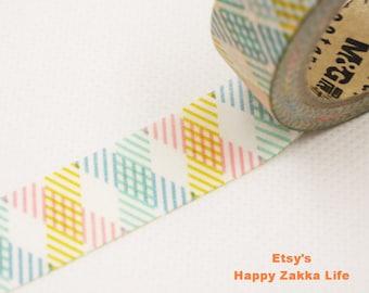 Stripe Shadow - Japanese Washi Masking Tape - 11 yards