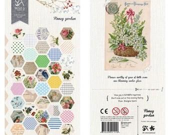Honey Garden - Sonia Stickers - Paper Deco Sticker - 1 Sheet