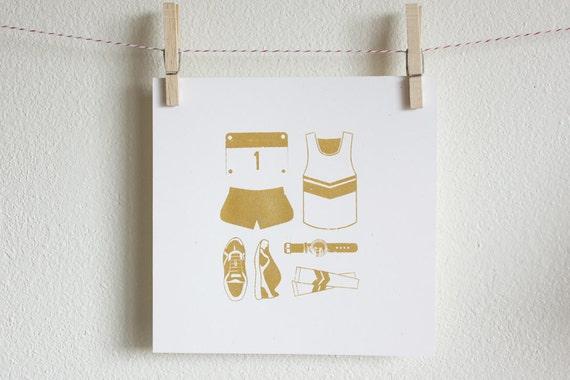 Simple Silkscreen Poster - Running Race Kit