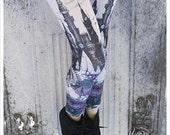 Dreams under Siege Legging - Fantasy Dream Punk Fairy Tale Leggings - Carousel Ink - Roses, Castles, Beasts