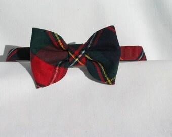 Quebec Tartan Bow Tie,  Man Bow Tie, Ring Bearer Quebec Tartan Bow Tie, Scottish Bow Tie