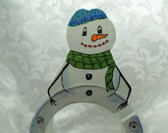 Snowman Wooden Bank - Free Personalization