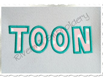 Small 2 Inch Toon Applique Machine Embroidery Font Monogram Alphabet