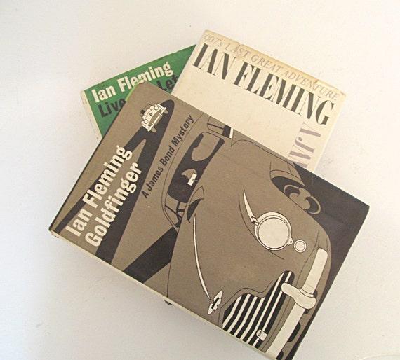 Ian Flemming James Bond Vintage Book Bundle Hardcover