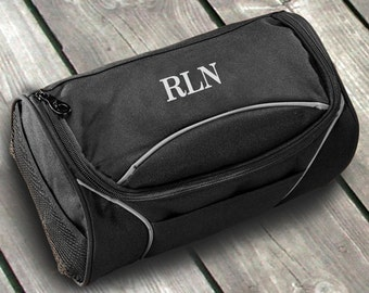 Men's Travel Kit, Canvas - Personalized Dopp Kit, Engraved Groomsmen Gift, Birthday Gift for Him, Wedding Party Gifts, Bridesmaid, Christmas