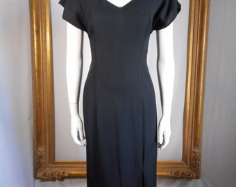 Vintage 1990's LE-AL Long Black Dress - Size 7/8
