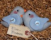 Primitive Whimsical Country Spring Love Birds BLUEBIRDS Tucks Bowl Fillers Ornies (PBB-09)