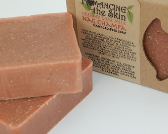 Creamy Goat Milk Nag Champa Handmade Lye Soap (Gluten Free)