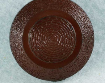 4 Vintage Dark Burnt Sienna Plastic Coat Buttons 1-1/8 inch 28mm Sewing Buttons