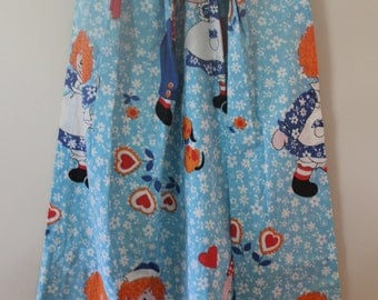 Pair of Vintage Raggedy Ann and Andy Drapery Panels