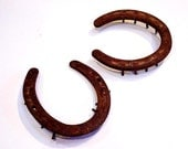 Vintage Rusty Horseshoes, Rustic Equestrian Farm Ranch Barn Find, Western Cowboy Collectible Home Decor itsyourcountry