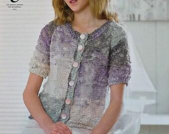 Knitting Pattern Girls Cardigan Fashion Knits Double