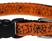 "Spiderwebs - 3/8"" Adjustable Dog Collar"