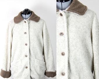 Vintage Retro Winter Outdoors Oversized Fleece Coat