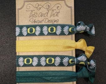 Oregon Ducks Hair Ties or Wrist Ties FOE