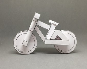 paperbikes v4 - downhill / freeride bicycle paper model