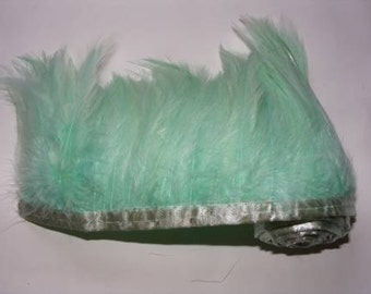 1 metre Full Hackle Feather Fringe - Softmint