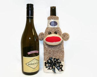Sock Monkey Wine Bottle Cosy