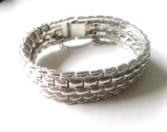 Vintage Silver Expansion Bracelet Retro Brides Fashion Jewelry