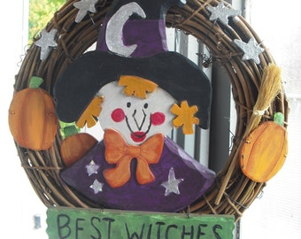 Upcycled Vintage Best Witches Wreath