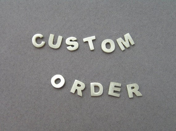 Initial Earrings - Silver Studs - Personalized Jewelry - Your choice of letters - custom order - Sterling Silver