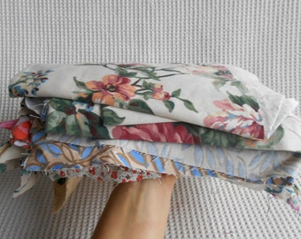 900g Florals Fabric Craft Supply Grab Bag Mixed Color size Lot