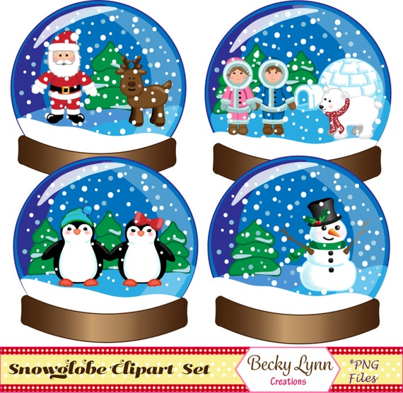 free clipart snow globe - photo #47
