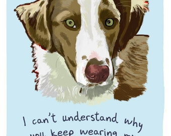Australian Shepherd 5x7 Print of Original Painting with phrase