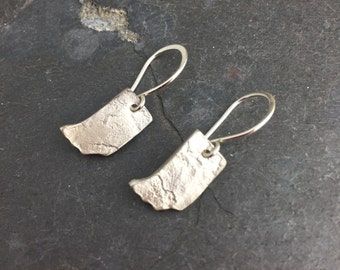 Sterling Silver Indiana Love Earrings State Pride
