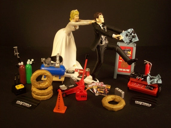mechanic wedding cake toppers wedding cake topper for mechanics auto mechanic awesome 17250