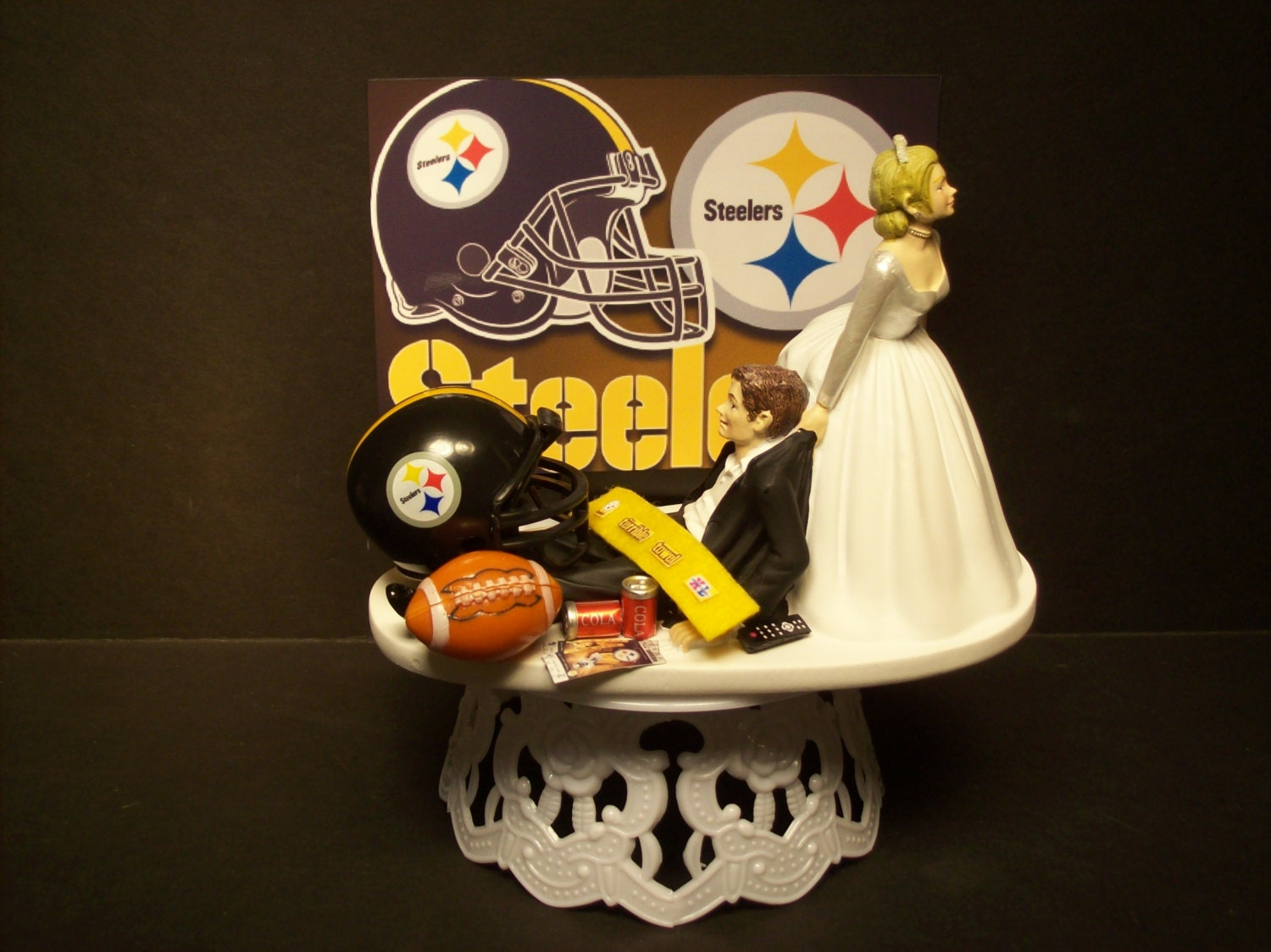 pittsburgh steelers wedding cake topper football steelers or your team and groom wedding 18624