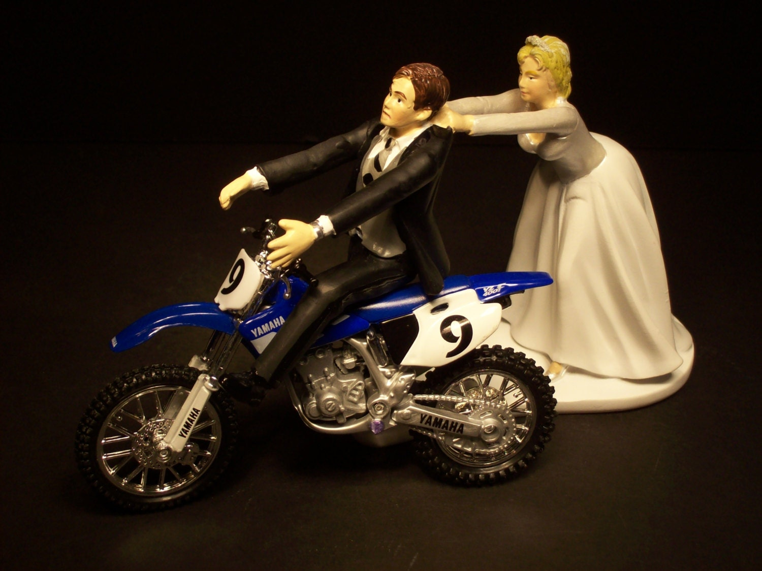 Come Back Blue Yamaha Yz450 F Dirt Bike Bride And Groom Funny
