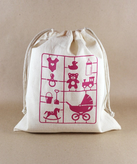 baby shower bags baby girl medium size reusable drawstring pouches