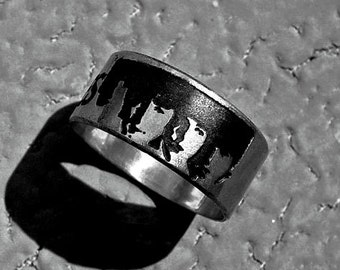 Personalized ring, Music ring, John Lennon, Sterling Silver, always and forever, personalized jewelry, musician ring, Beatles ring, rings