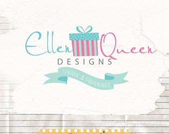 Premade Logo Design - Premade Business Logo and Watermark - Gift Box Logo